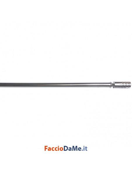 Bastone per Tende Bris Estensibile EA48 in Acciaio Colore Cromato Diametro 7 mm