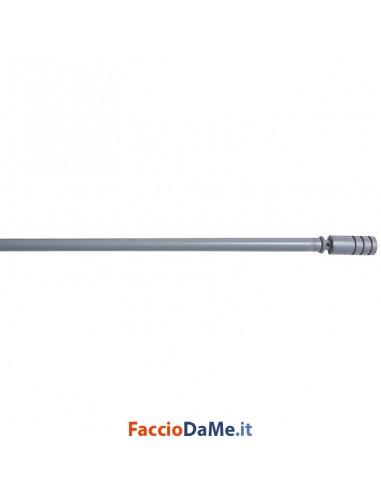 Bastone per Tende Bris Estensibile EA48 in Acciaio Colore Satinato Diametro 7 mm