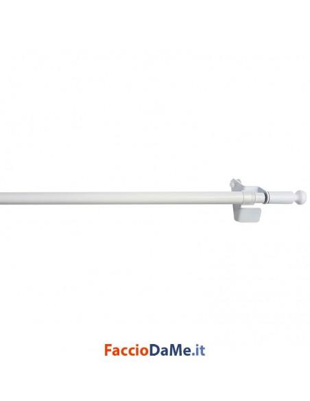 Bastone per Tende Bris Tondo a Pomolo a Molla EA650 Colore Bianco Diametro 10 mm