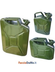 Tanica Taniche per Benzina CE UN in Metallo Verniciato Colore Verde 5 10 20 litri
