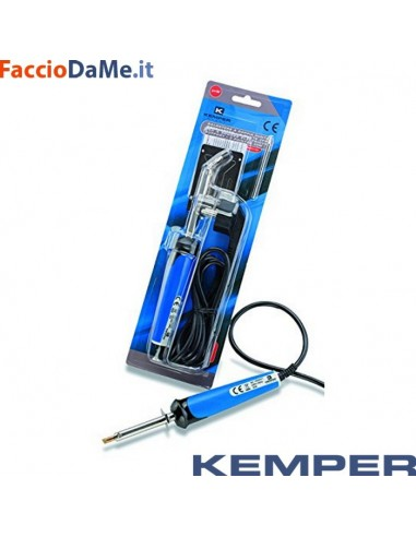 Saldatore per Stagnature Kemper 170060 Completo di 2 Punte Curva e Dritta 40watt
