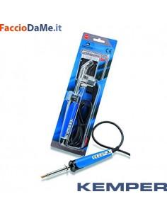 Saldatore per Stagnature Kemper 170080 Completo di 2 Punte Curva e Dritta 60watt