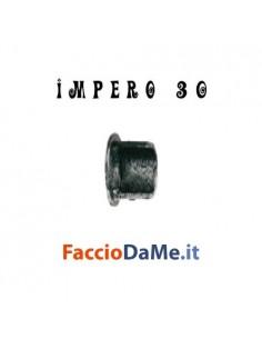 Supporto ROSETTA a Parete Laterale in Ferro Nero Argento per Bastone Tende D.30mm IMPERO Italy
