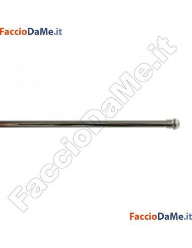 Bastone per Tenda a MOLLA TONDO Diametro 7mm CROMO LUCIDO Varie Misure