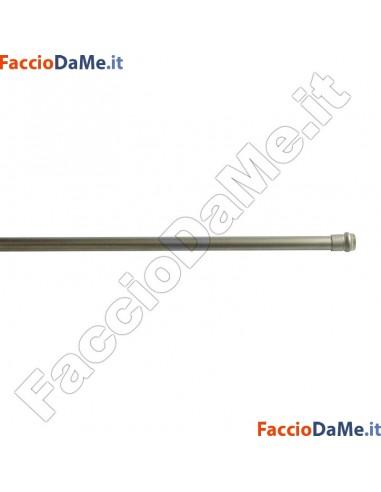 Bastone per Tenda a MOLLA TONDO Diametro 7mm NICHEL SATINATO Varie Misure