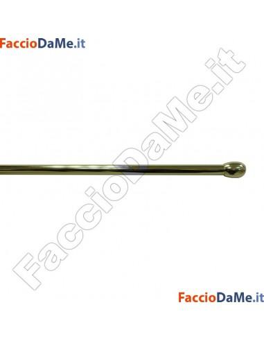 Bastone per Tenda a VETRO ESTENSIBILE OLIVA Diametro 10mm OTTONE LUCIDO VERNICIATO Varie Misure
