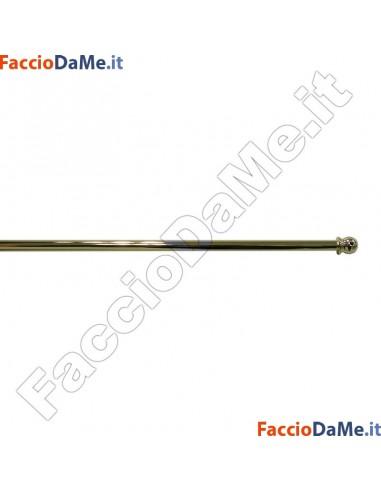 Bastone per Tenda a VETRO ESTENSIBILE PALLINA Diametro 7mm OTTONE LUCIDO VERNICIATO Varie Misure