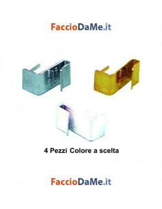 Ganci Supporto per Bacchette Bastoni per Tende Senza Forare gli Infissi in Alluminio 4pz