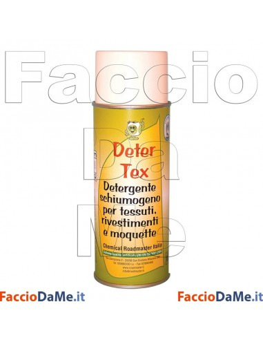 Deter Tex Linea Nautica Detergente Schiumogeno per Tessuti Rivestimenti e Moquette