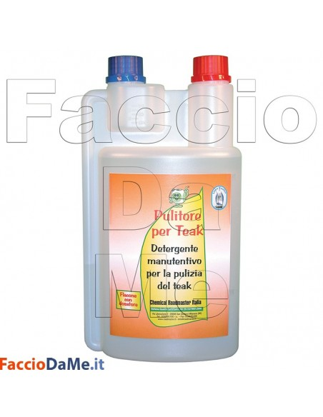 Pulitore per Teak Linea Nautica Detergente Manutentivo per la Pulizia del Teak 1lt