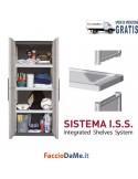 Armadio Linea Steel S71TP Tuttopiani Robusto in Plastica Polipropilene Cerniere Acciaio - SPEDIZIONE GRATUITA