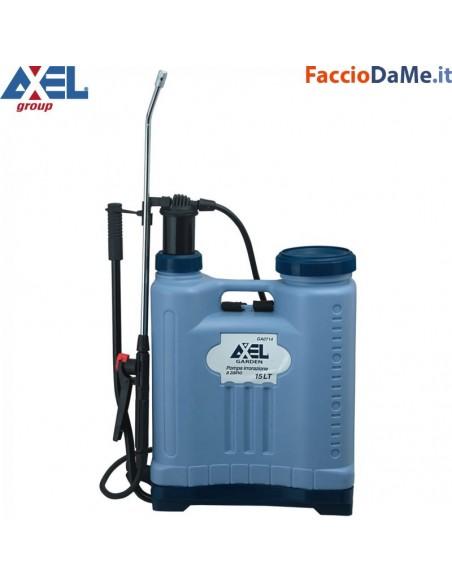 Pompa per Irrorazione a Zaino Erogazione a Pressione 15 litri Axel GA0714