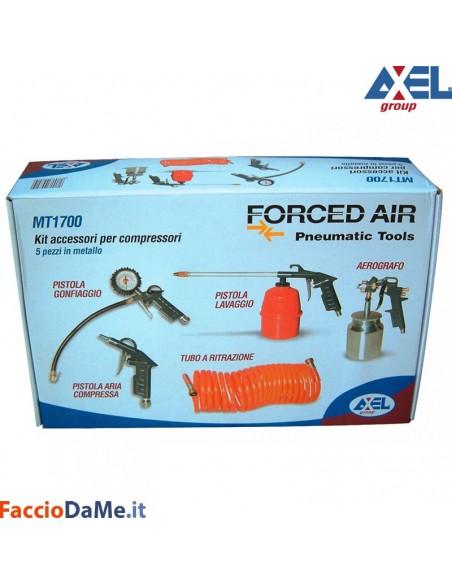 Set Kit Compressore con Accessori Utensili Confezione da 5 Pezzi Axel MT1700