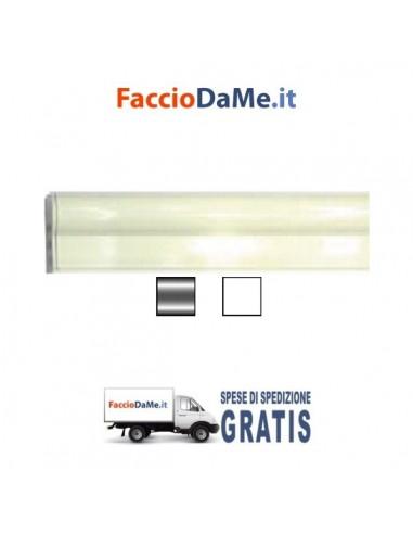 Binario per Tende in Alluminio Argento o Bianco Tipo Mantovana Applicazione a Soffitto - SPEDIZIONE GRATUITA