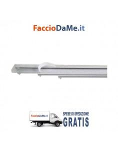 Binario per Tenda a Pannello in Alluminio Bianco con Porta Pannelli Scorrevoli - SPEDIZIONE GRATUITA