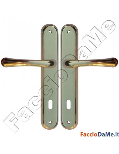 Maniglie cremonesi per porte e finestre serie delta in ottone lucido verniciato - Maniglie per porte e finestre ...
